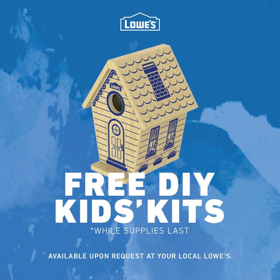 Free DIY Kids Kits at Lowe's