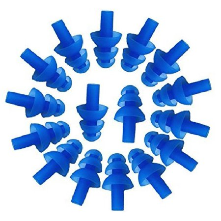 50 Pairs Individually Wrapped Soft Silicone Reusable Washable Ear Plugs 29dB for Sleeping Swimming Noise Hearing Protection Earplugs Music Concerts Construction Shooting Hunting Motor Sports