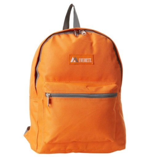 Everest Basic Backpack, Orange Now .99 (Was .90)