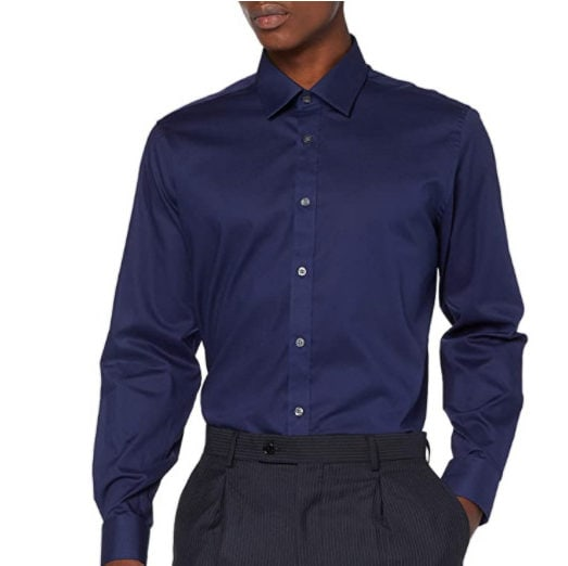 Amazon Brand Men's Regular Fit Formal Long Sleeve Shirt Now .54