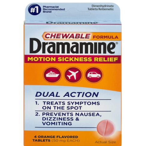 Dramamine Motion Sickness Relief Chewable Formula | 4 Tablets Now <img src=