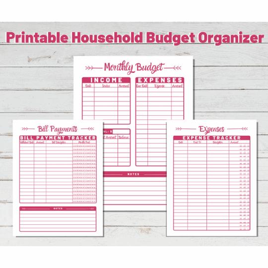 Free Printable Household Budget Organizer