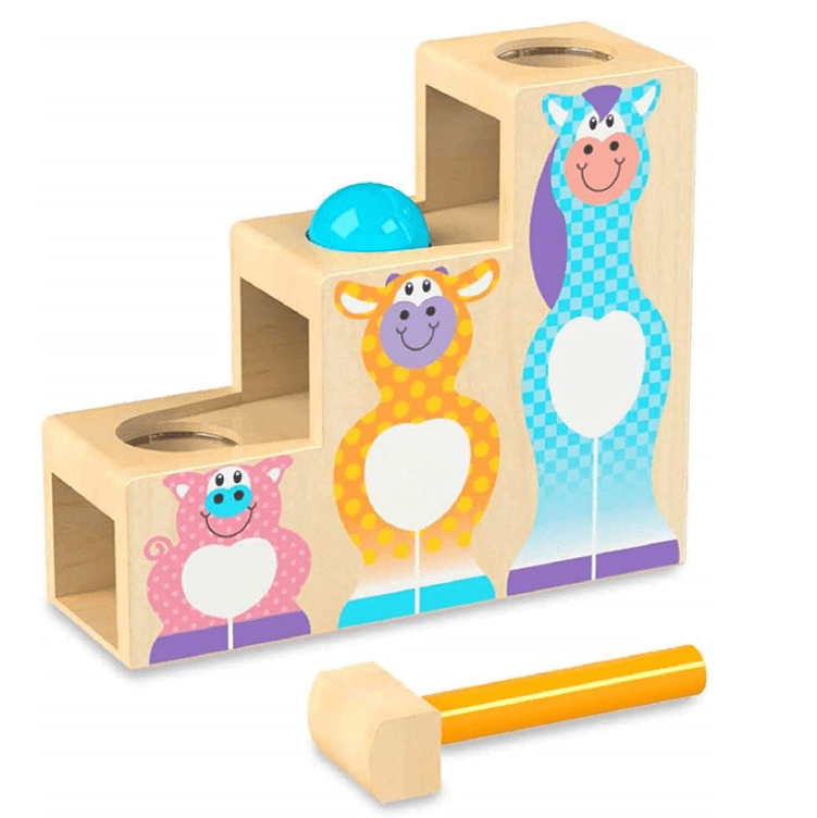 Melissa & Doug First Play Wooden 3 Piece Hammer & Ball Toy Now .30 (Was .99)