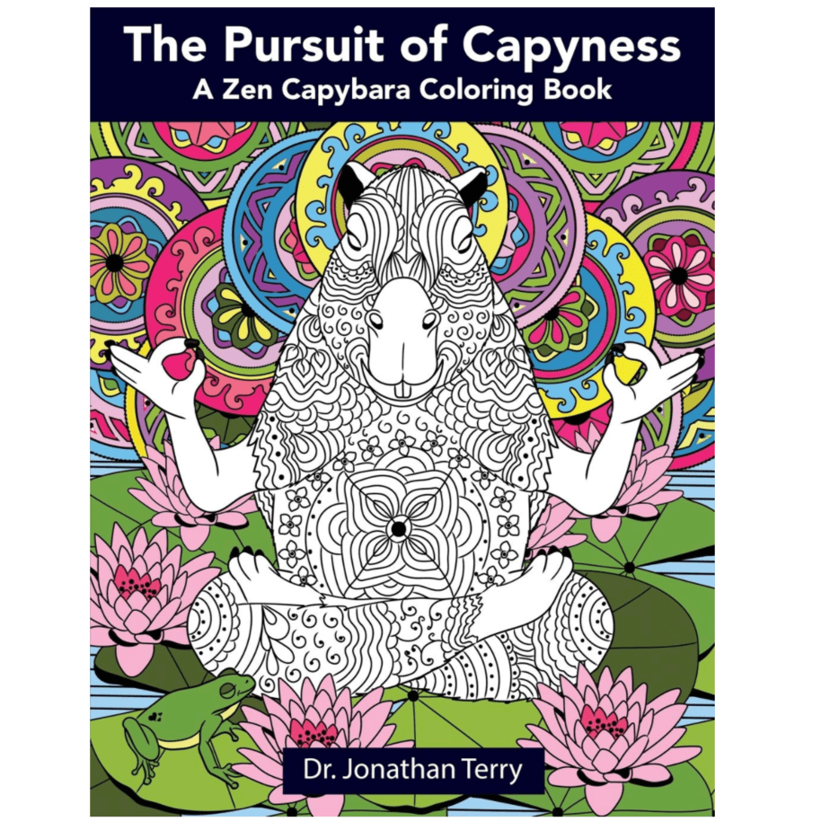 The Pursuit of Capyness: A Zen Capybara Coloring Book Now .20 (Was .99)