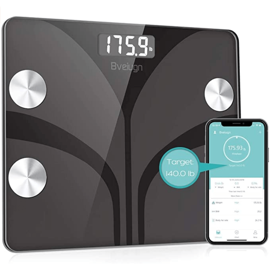 Bveiugn Smart Bathroom Scale with Smartphone App Now .99