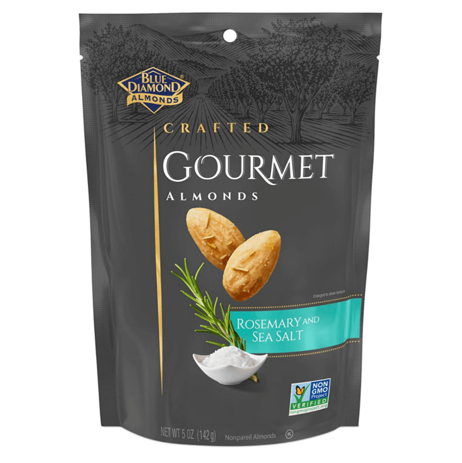 Blue Diamond Almonds, Gourmet Rosemary and Sea Salt, Now .75