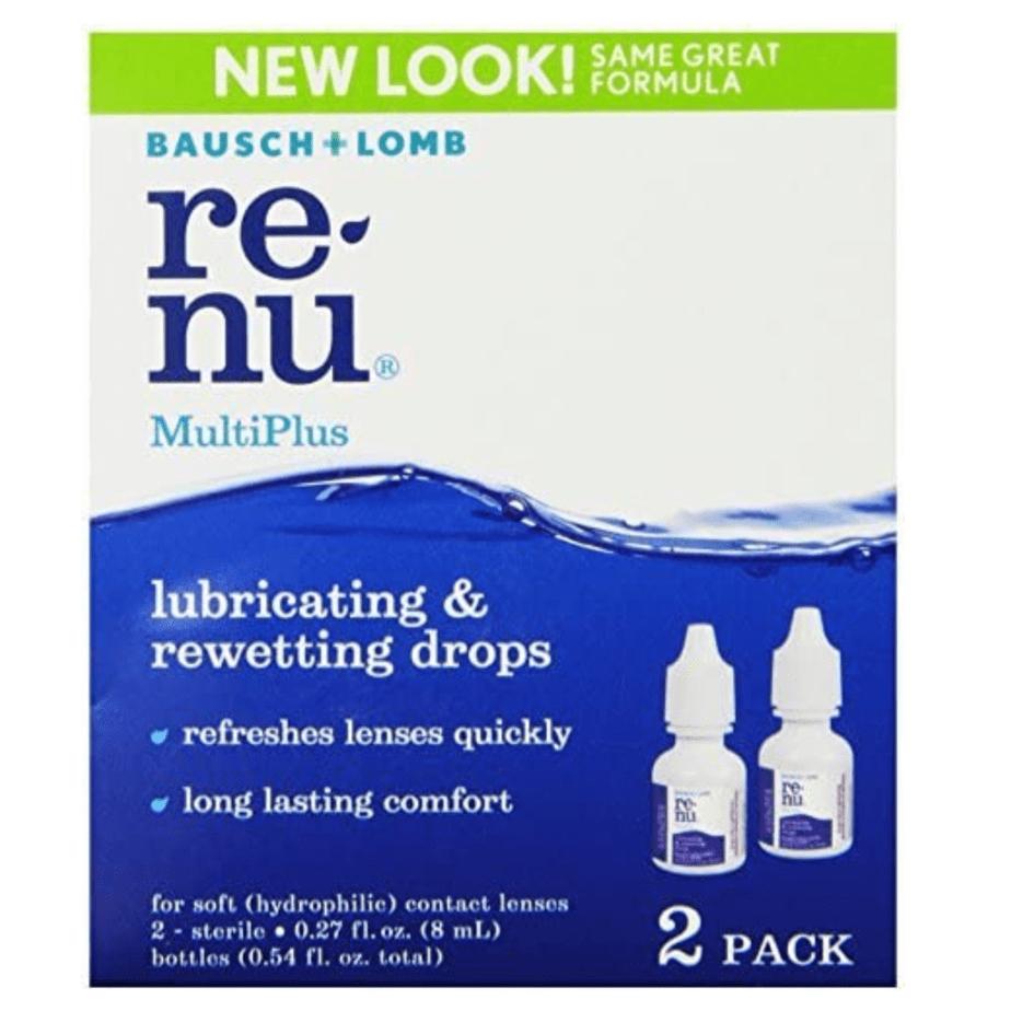 Bausch + Lomb ReNu MultiPlus Lubricating & Rewetting Drops 2-Pack Now .97 (Was .45)