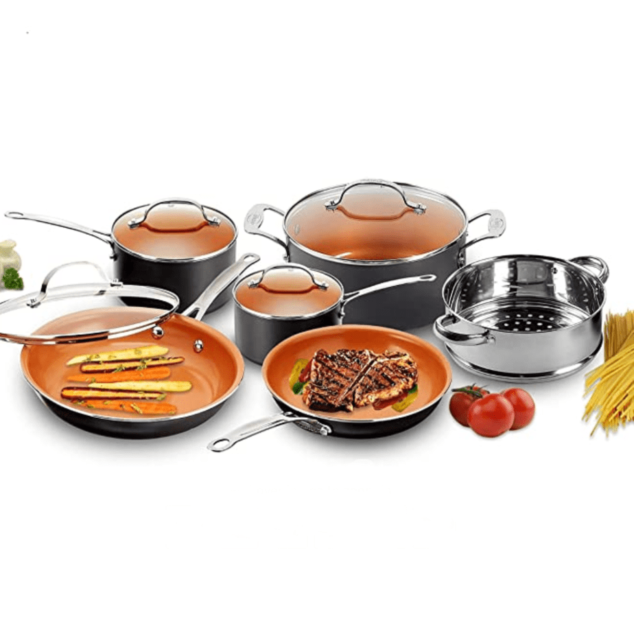 Gotham Steel Pots and Pans 10 Piece Cookware Set Now .06 (Was 9.99)