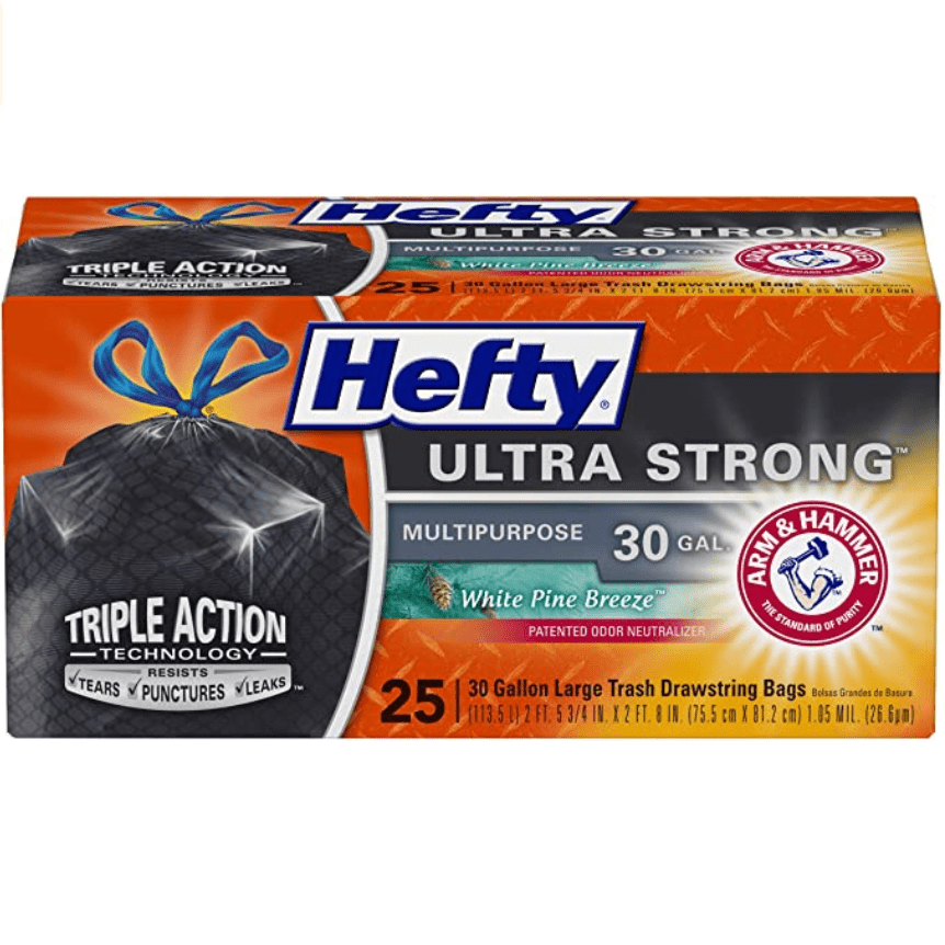 Hefty Ultra Strong Large Trash Bags 30 Gallon 25-Count Only .53 (Was .99)