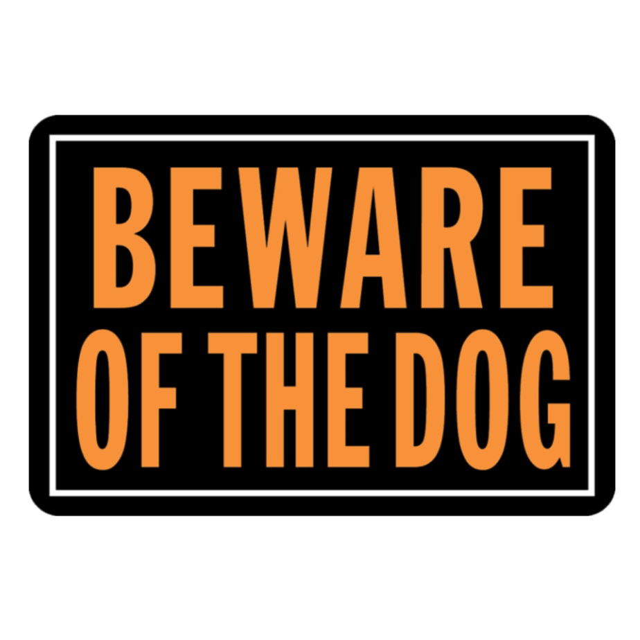 Hy-Ko Products 838 Beware of Dog Aluminum Sign Now .24