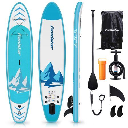 Famistar 12' Inflatable Stand Up Paddle Board SUP w/ 3 Fins Now $499.99 (Was $800)