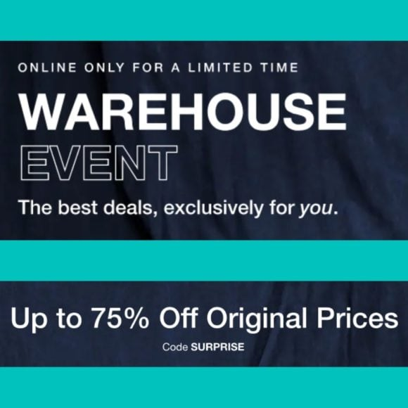 Gap BIG Warehouse Sale - Clothing 75% Off for Whole Family