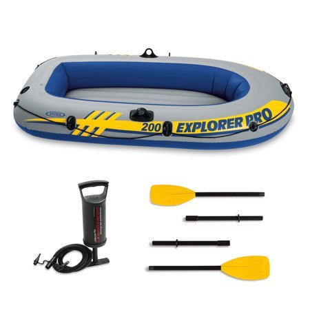 AMAZING Deal on Intex Explorer 300 Inflatable Boat Set with Oars and Pump