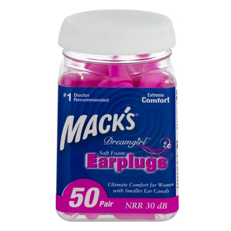 Mack's Dreamgirl Ear Plugs, 50 Ct