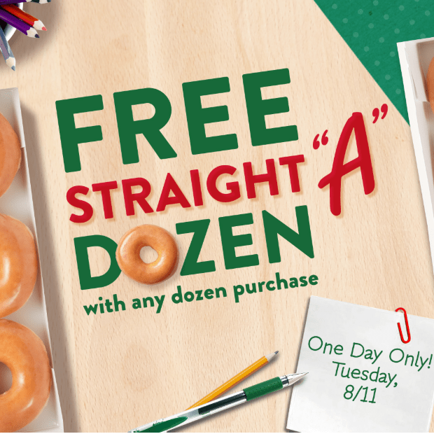 Free Krispy Kreme Doughnut & Coffee for Teachers