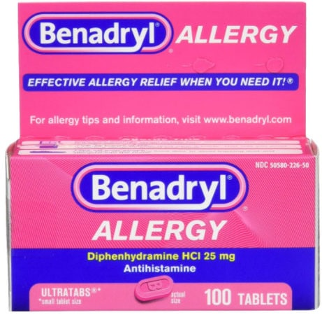 Benadryl Ultratabs Antihistamine Allergy Relief Tablets, 100 ct Now .79 (Was .49)