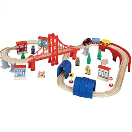 Maxim Enterprise Inc Wooden Train Set, 60-Piece Now .58 (Was .02)
