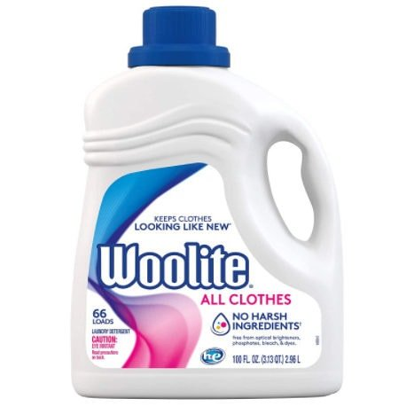 2 Pack of Woolite All Clothes Liquid Laundry Detergent Now .02 (Was )