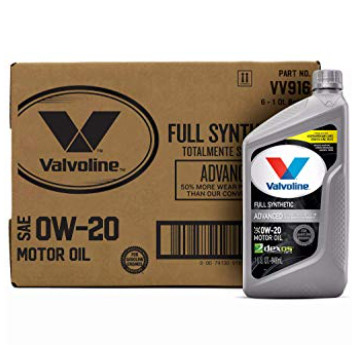 Valvoline Full Synthetic SAE 0W-20 Motor Oil 1 QT, Case of 6 Now .77 (Was .55)