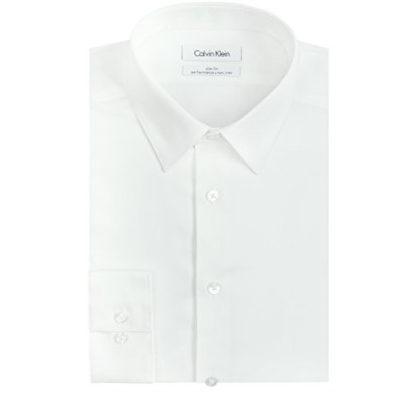 Calvin Klein Men's Dress Shirt Slim Fit Now .99 (Was .50)
