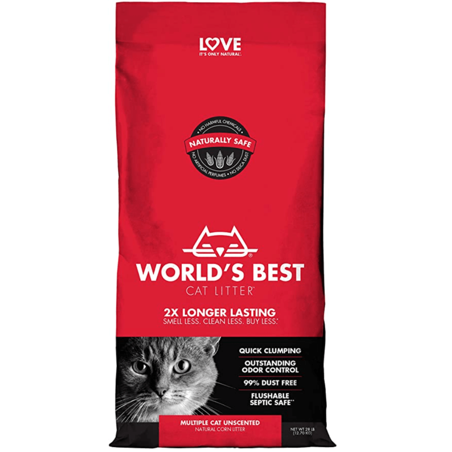 World's Best Clumping Cat Litter for Multiple Cats 28-Pounds Now .82 (Was .95)