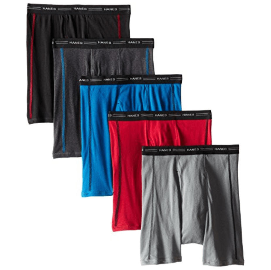 Hanes Men's 5-Pack Sports-Inspired Cool Dri Boxer Brief Now .95 (Was .00)