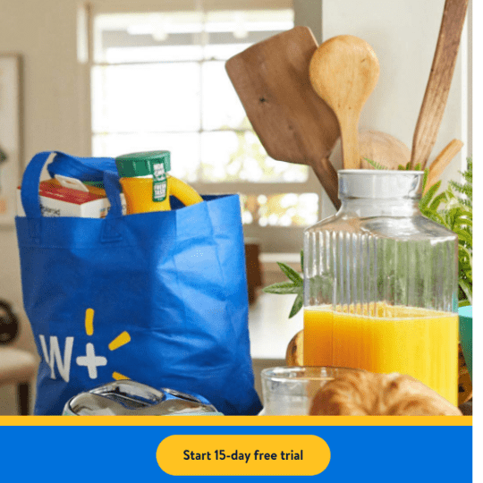 FREE 15 Day Trial of Walmart+