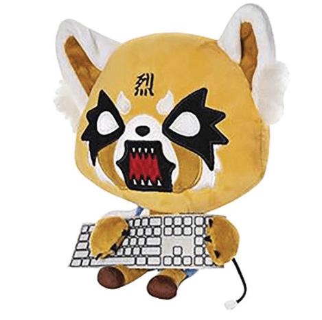 GUND Sanrio Aggretsuko Rage Sound Plush Animal Red Panda Netflix Original, 12