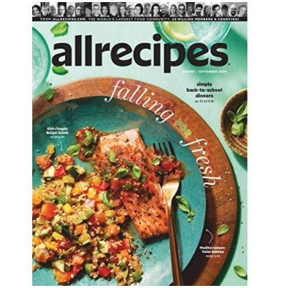 AllRecipes 6 Month Subscription Now .00 (Was .94)