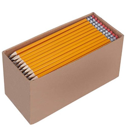 AmazonBasics Pre-sharpened Wood #2 HB Pencils, 150 Pack Now .70 (Was .49)