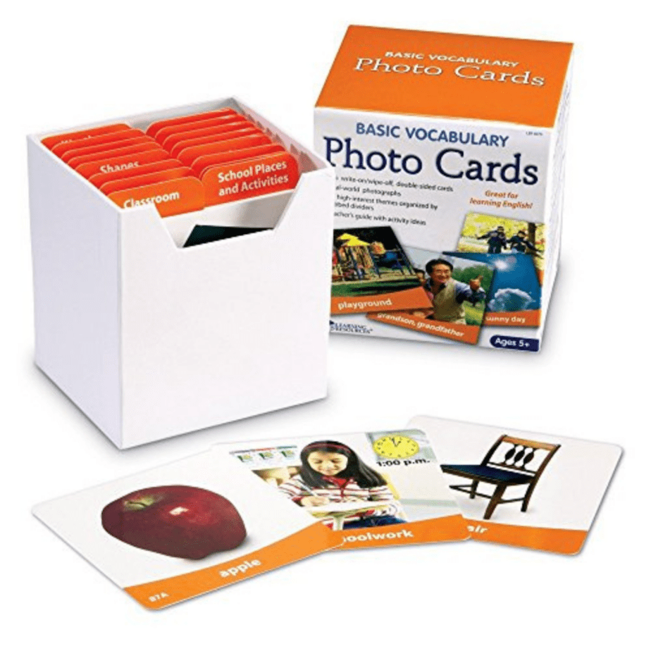 Learning Resources Basic Vocabulary Photo Cards Now .38 (Was .99)