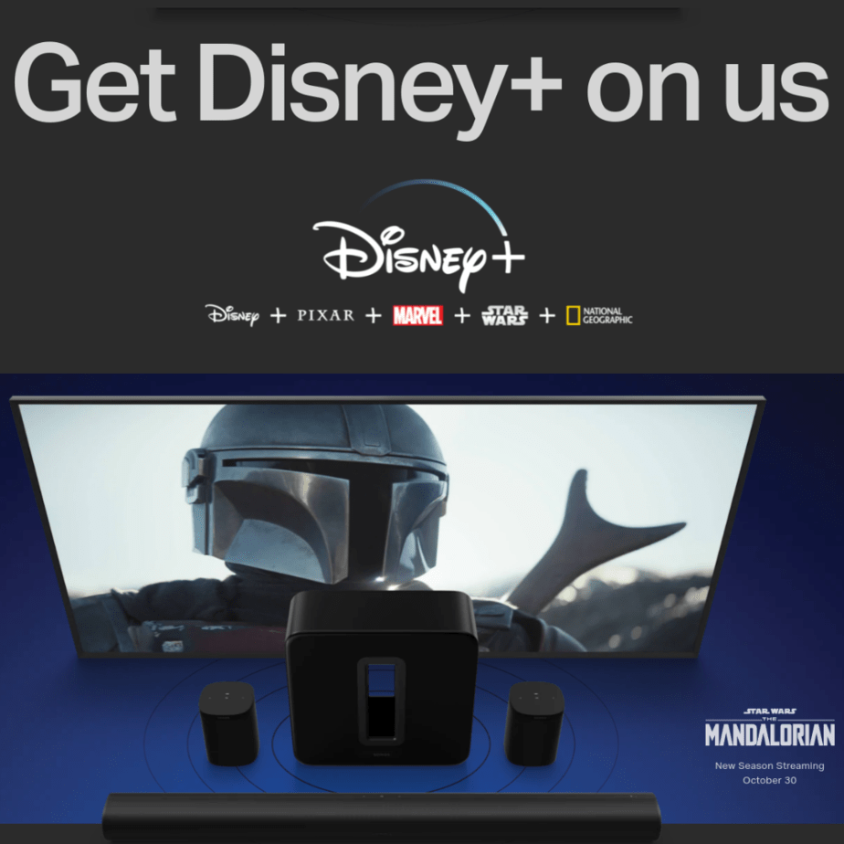 Get 6 Months of Disney+ Free with the Purchase of an Eligible Sonos Product
