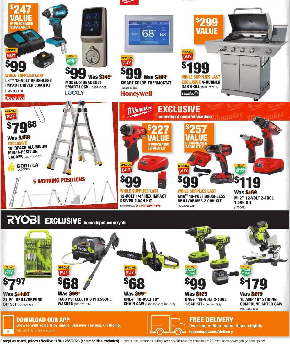 2020 Home Depot Black Friday Ad