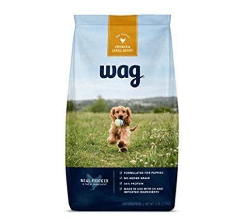 Amazon Brand Wag Dry Dog Food for Puppies 5 lb. Bag Now .77