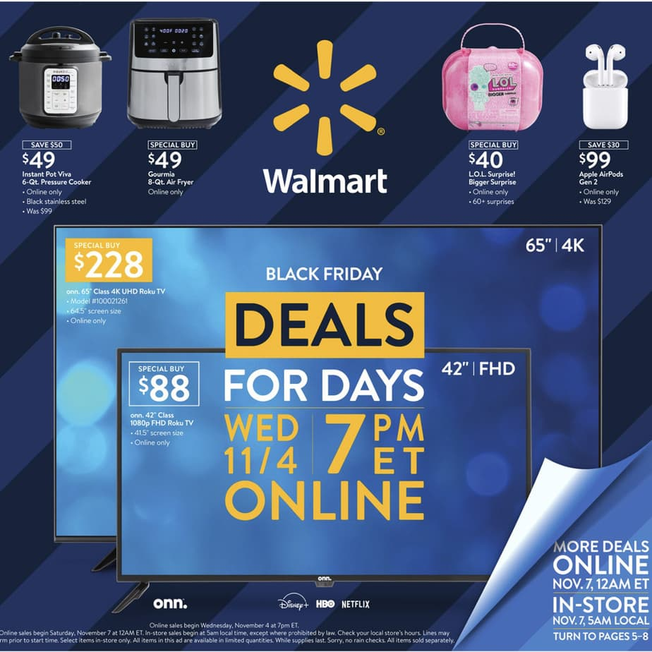 Walmart Black Friday Event #1 is LIVE NOW:  TV,  Instant Pot,  Shark Vacuum & more!