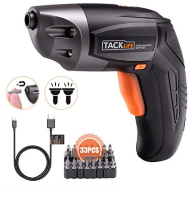 TACKLIFE Cordless Electric Screwdriver Now .29 (Was )