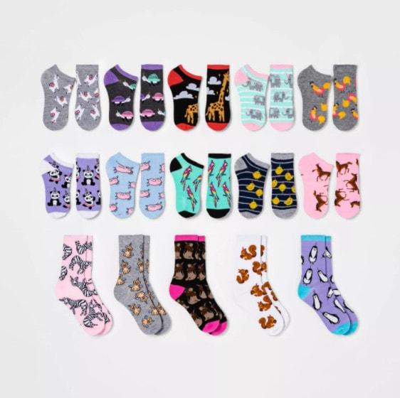 15 Days of Socks Advent Calendars for Men, Women, and Kids Only .50