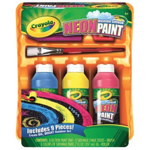 Crayola Neon Sidewalk Paint Tray Set Now .39 (Was .49)
