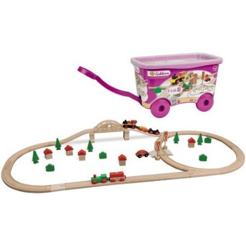 Eichhorn 55-Piece Wooden Train Set Now .97 (Was .99)