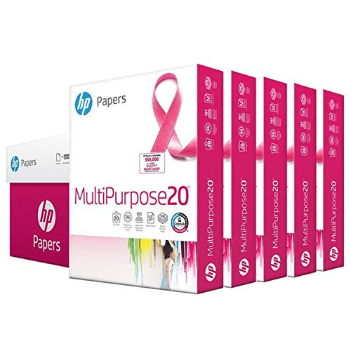 HP Printer Paper 8.5x11 MultiPurpose 20 lb 5 Ream Case Now .98 (Was .91)