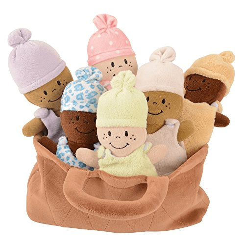 Basket of Babies Creative Minds Plush Dolls, Soft Baby Dolls Set, 6 Piece Set for All Ages Now .79 (Was .99)
