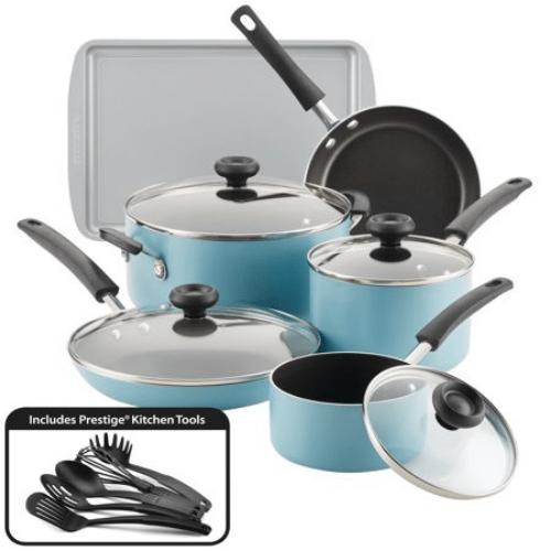 Farberware15-Piece Nonstick Cookware Set Now .97 (Was 0)