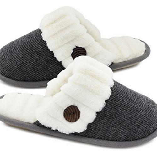 HomeTop Women's Cute Fuzzy Slippers Now .99 (Was .99)
