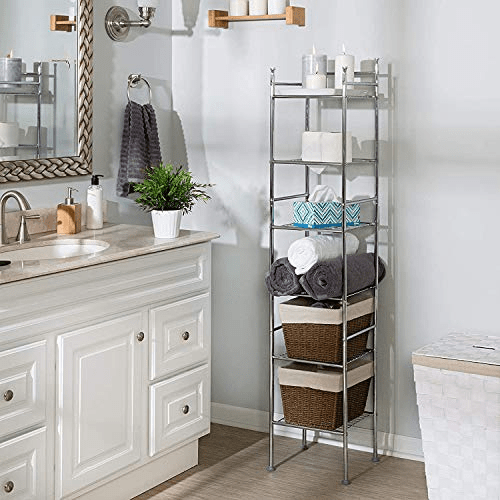 Honey-Can-Do 6 Tier Metal Tower Bathroom Shelf Now .00 (Was .99)