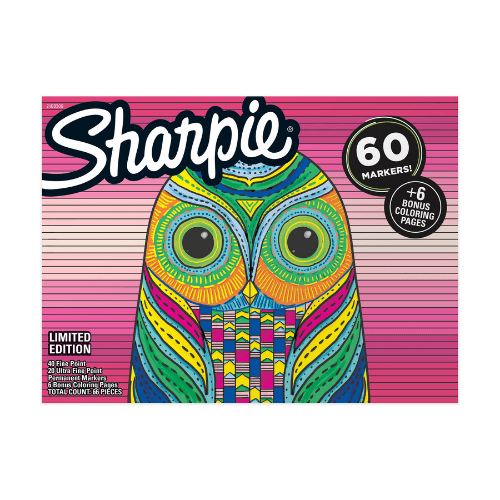 Sharpie Permanent Markers 60 Pack Now  (Was .00)