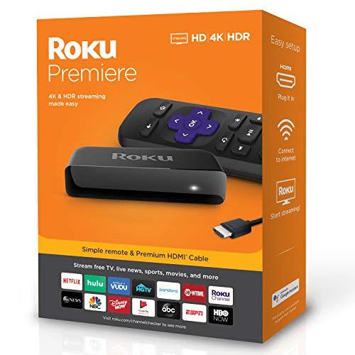 Roku Premiere HD/4K/HDRStreaming Media PlayerNow
