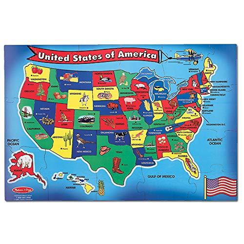 Melissa & Doug U.S.A. 51pc Floor Puzzle Now $9.09 (Was $12.99)