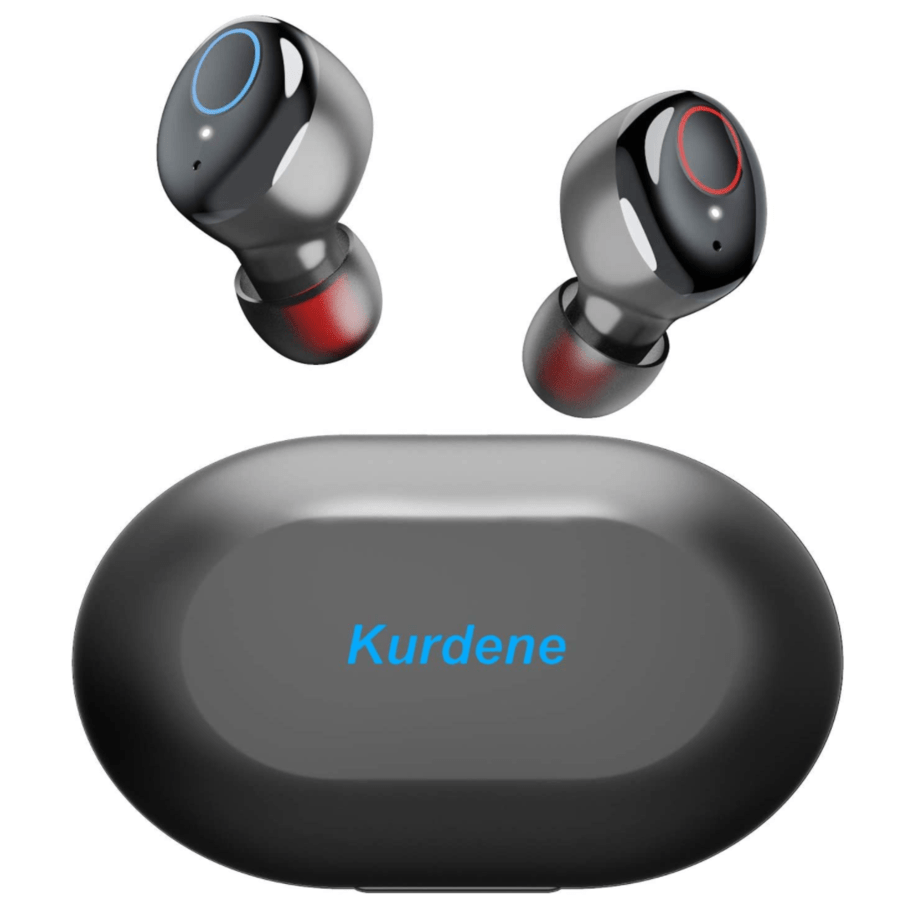 Kurdene Waterproof Bluetooth Earbuds with Mic and Charging Case Now .44 (Was .99) + More Colors
