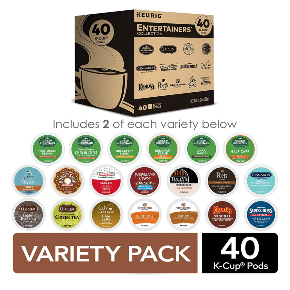 Keurig Entertainers' Collection Variety Pack 40-Count Now .19 (Was .99)