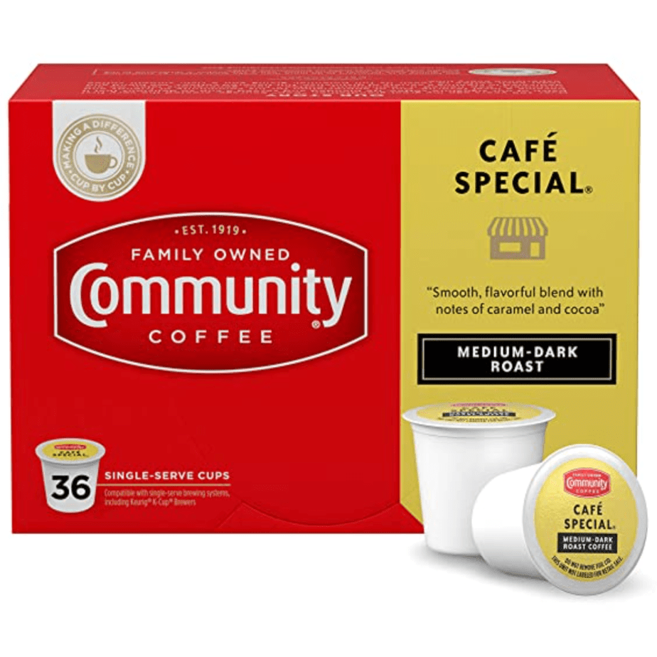 Community Coffee Café Special 36 Count Coffee Pods Now .98 (Was .97)
